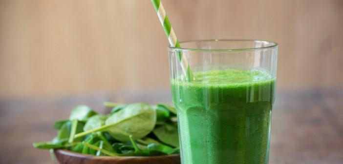 Smoothie met spinazie als ontbijt