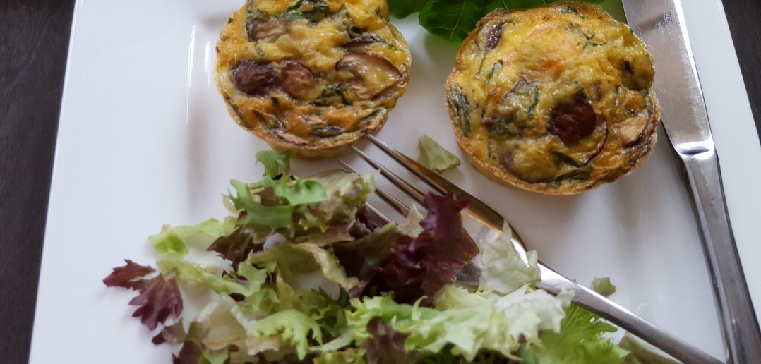 Muffin met ei en zalm